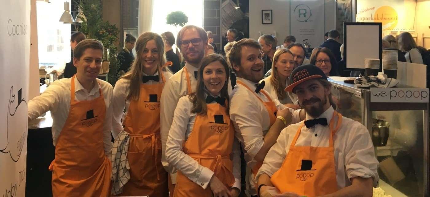WePoPoP:s ambassadörer på Passion för mat mässan 2016 i Göteborg