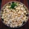 Skål med popcorn till dillpopcorn