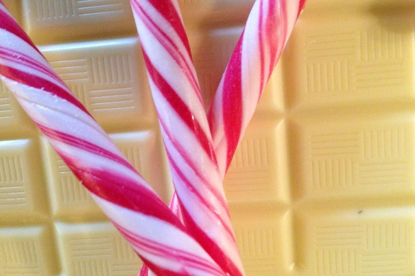 Polkagris och vitchoklad