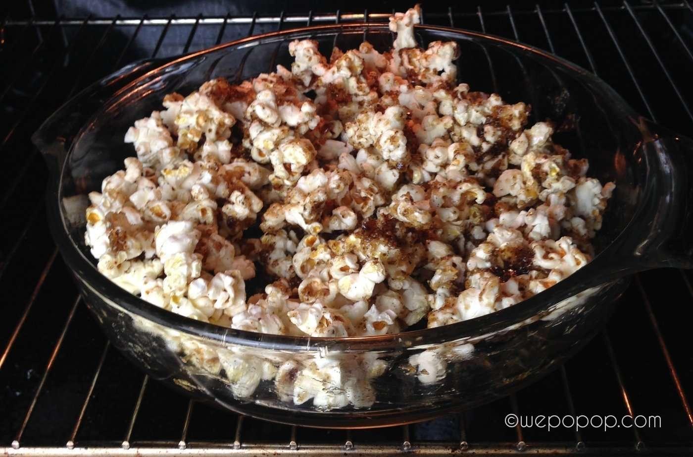 Vanilj o mandel popcornrecept i ugn