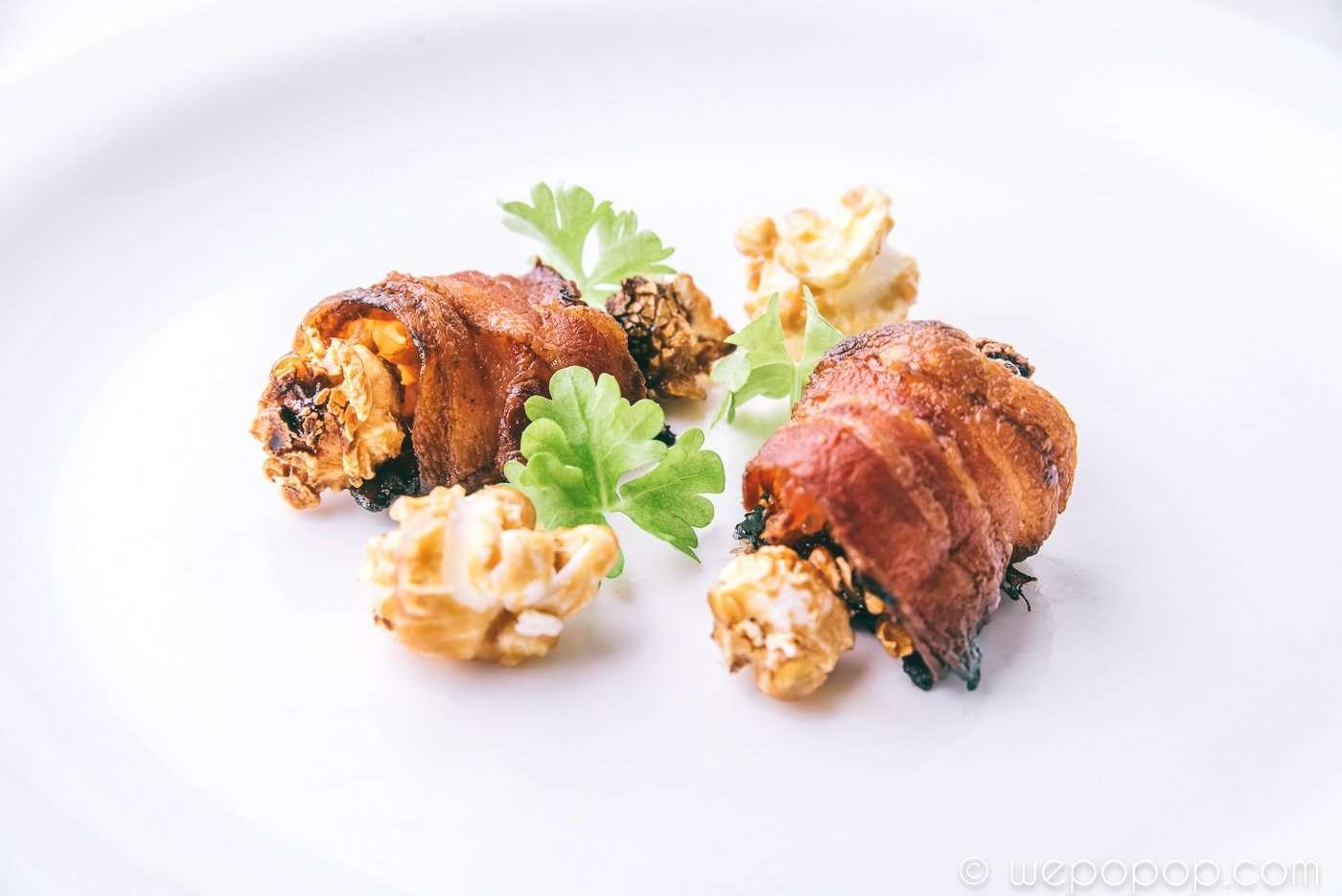 Baconinlindade karamellpopcorn