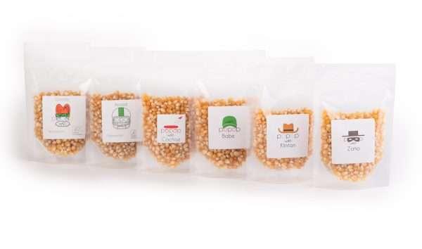 Popcornupplevelsen del2 uppställda på rad